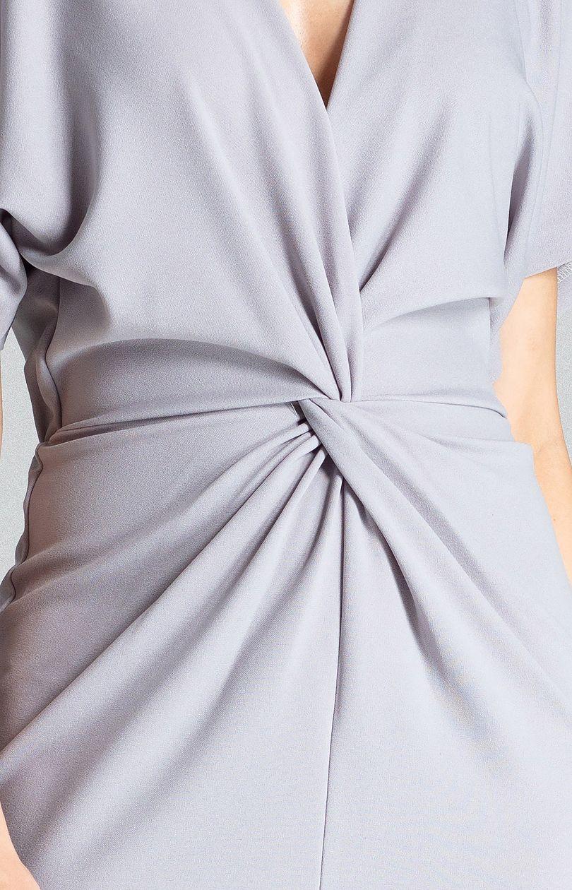 Sukienka M687 - szary - Sklep OHSO.pl™ PAtY85tt