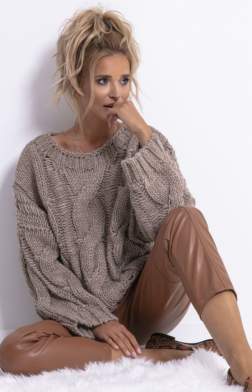 Sweter Chunky Knit F776 Sklep OHSO.pl™