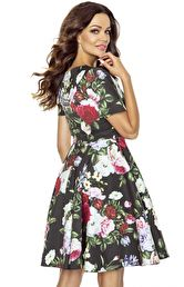 158ad35859 Kartes Moda Rozkloszowana sukienka w kwiaty KM243 Kartes Moda Rozkloszowana  sukienka w kwiaty KM243