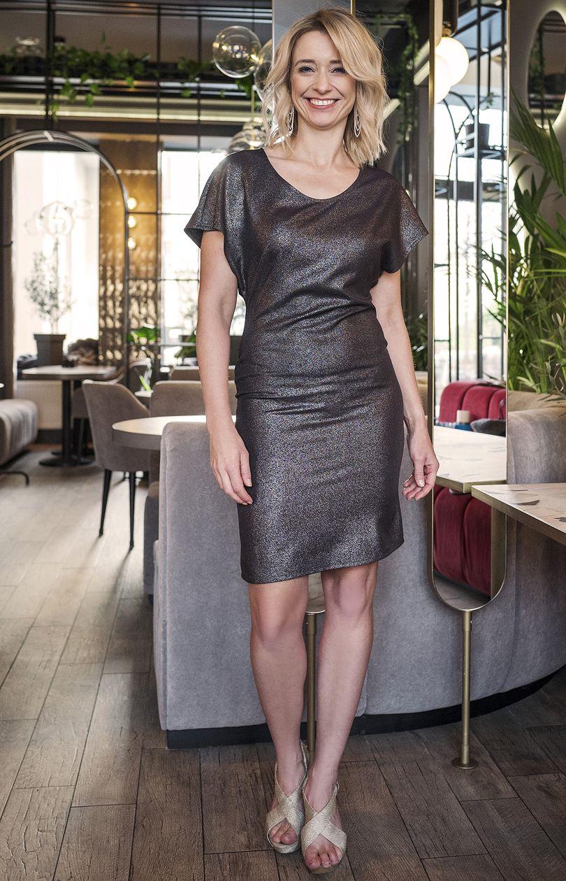 Sukienka SUK101 - czarno-srebrny - Sklep OHSO.pl™ B7AiESBm