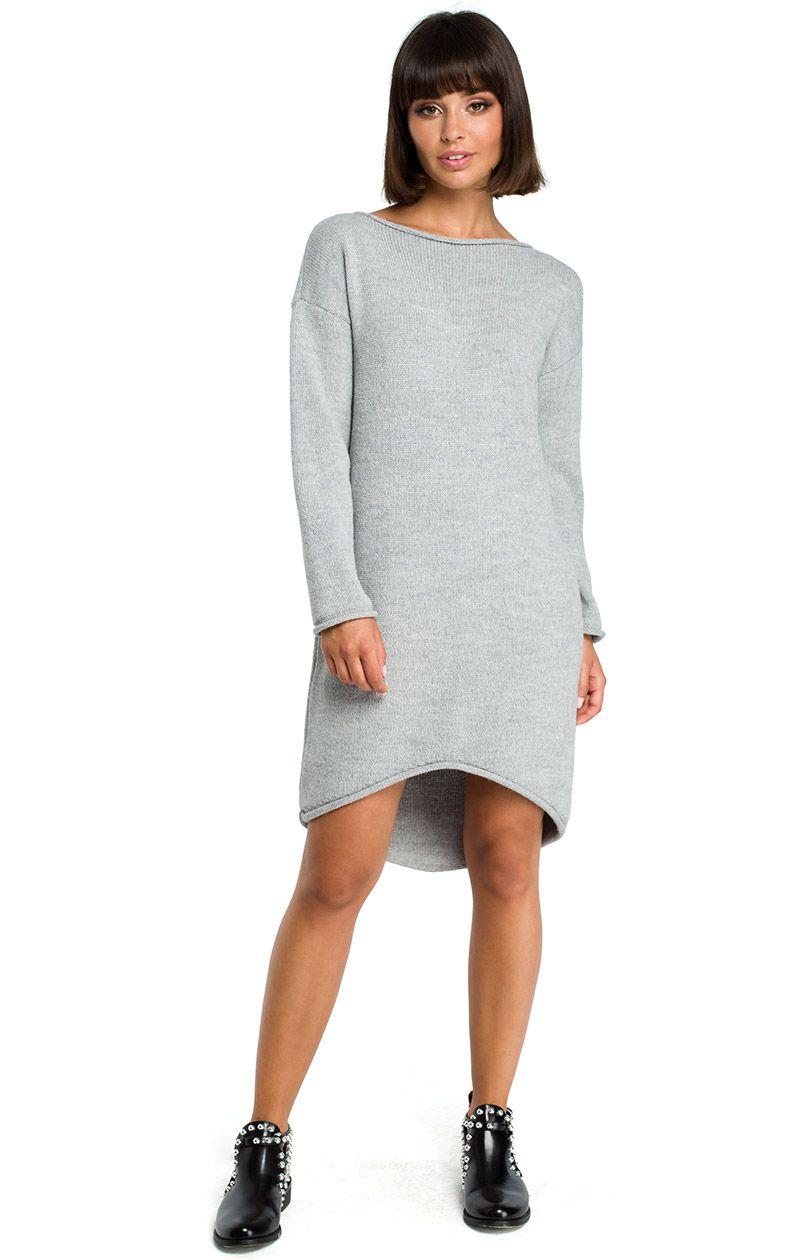 Sukienka BK006 - szary - Sklep OHSO.pl™ CwUw4KkE