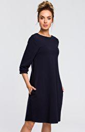 ef51af40fe sukienki dresowe - Sukienki na sezon 2019 - Moda - niebieski i ...