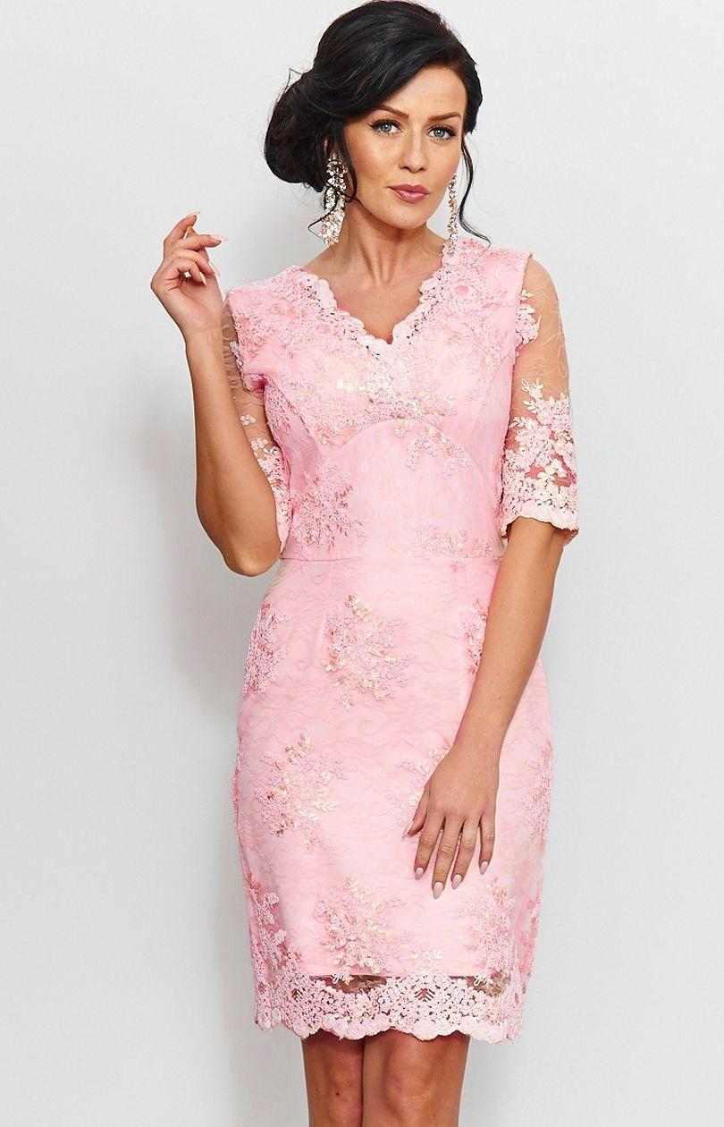 Inne rodzaje Sukienka ołówkowa z koronki 153 - Sklep OHSO.pl™ QT64